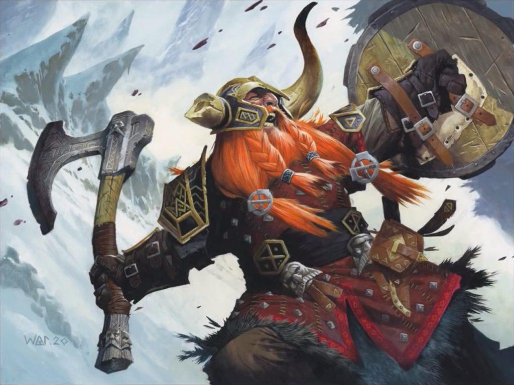 Bruenor Battlehammer - Illustration by Wayne Reynolds