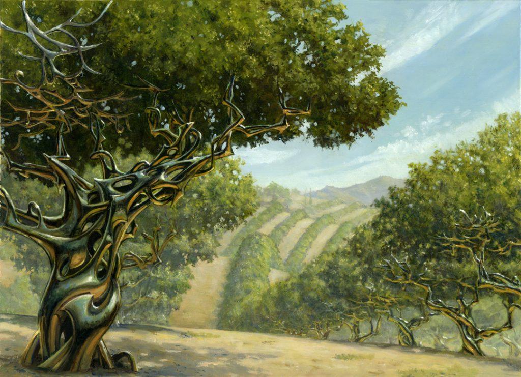 Exotic Orchard - Illustration by Steven Belledin