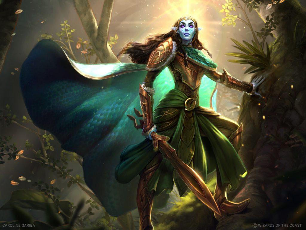 Lathril, Blade of the Elves - Illustration by Caroline Gariba