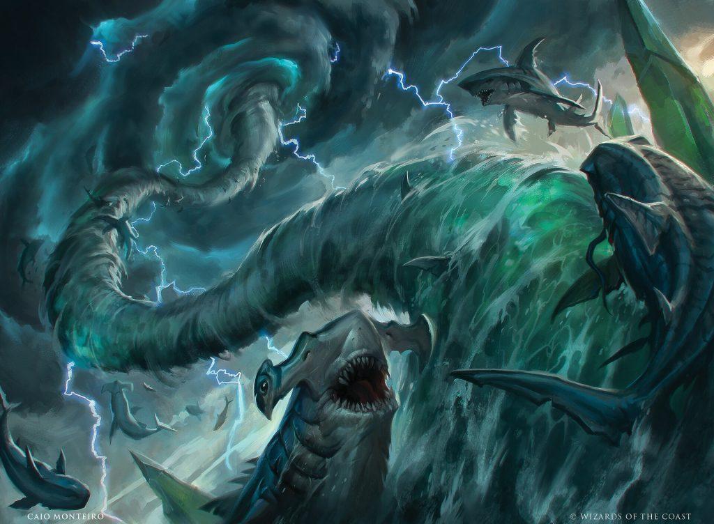 Shark Typhoon - Illustration by Caio Monteiro