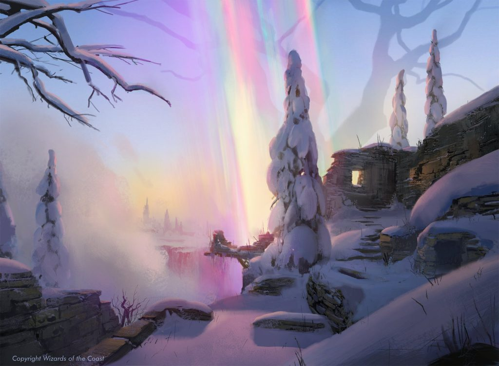 Shimmerdrift Vale - Illustration by Titus Lunter