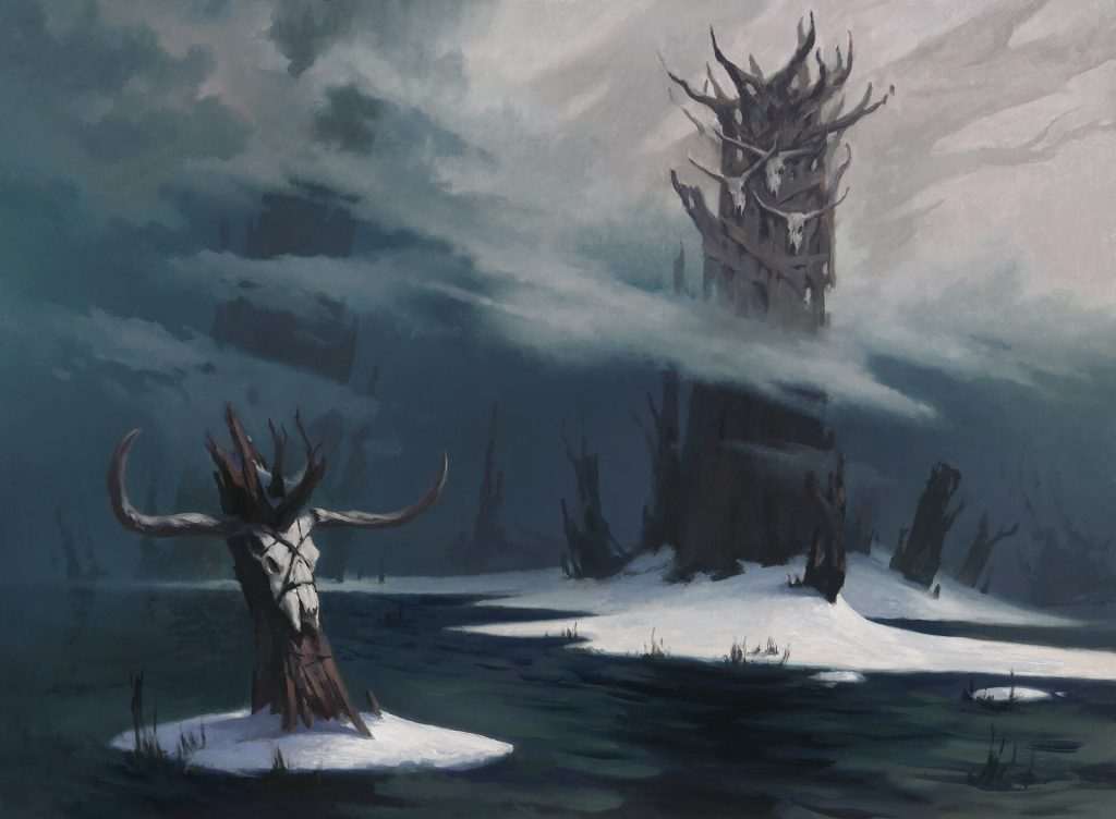 Snow-Covered Swamp - Illustration by Adam Paquette