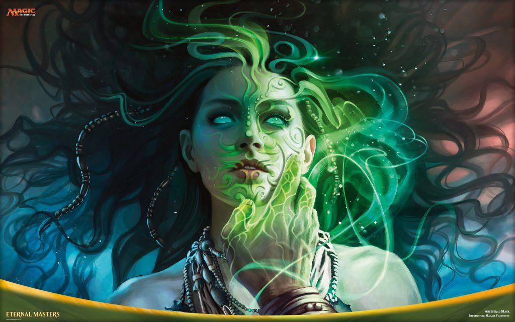 Ancestral Mask - Illustration by Magali Villeneuve