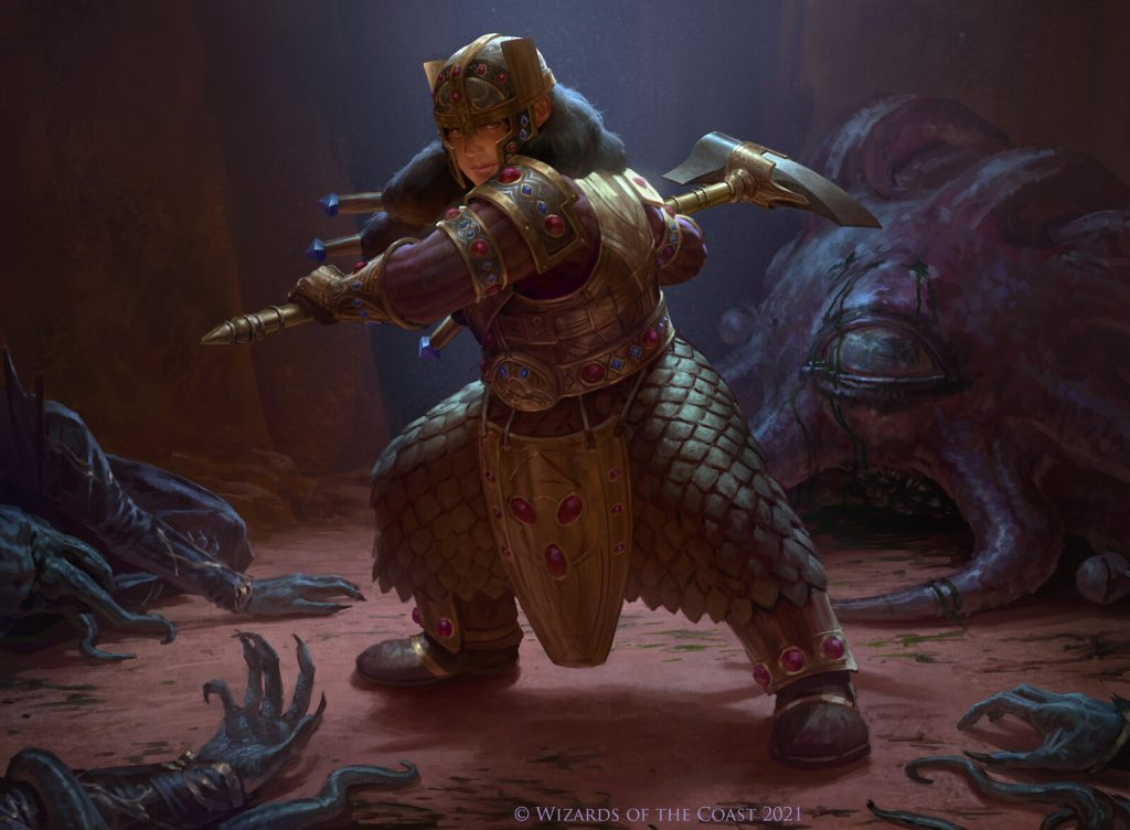 Barrowin of Clan Undurr - Illustration by Manuel Castañón