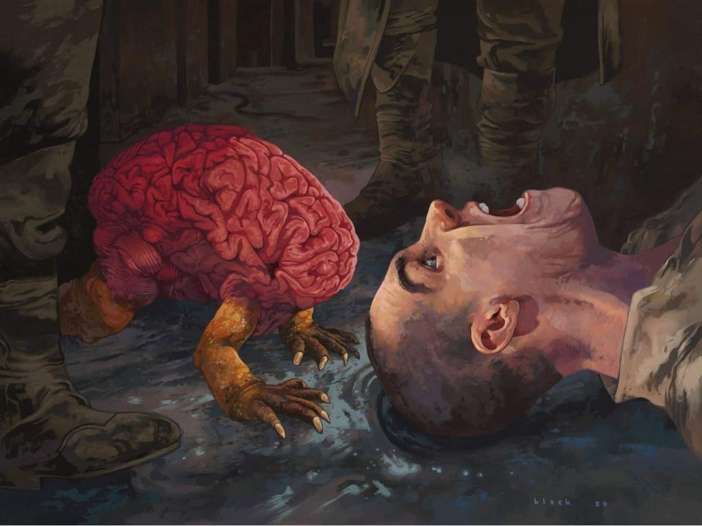 Devour Intellect - Illustration by Steven Russel Black