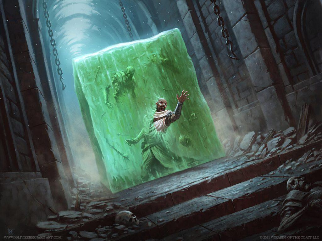 Gelatinous Cube - Illustration by Olivier Bernard