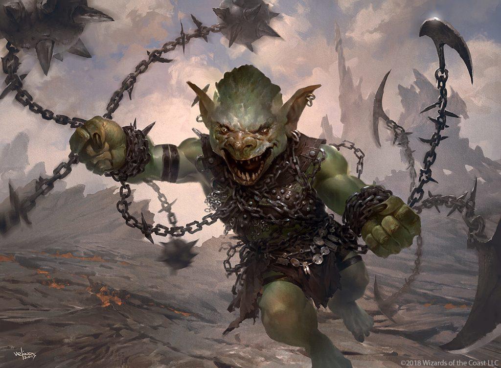 Goblin Chainwhirler - Illustration by Svetlin Velinov