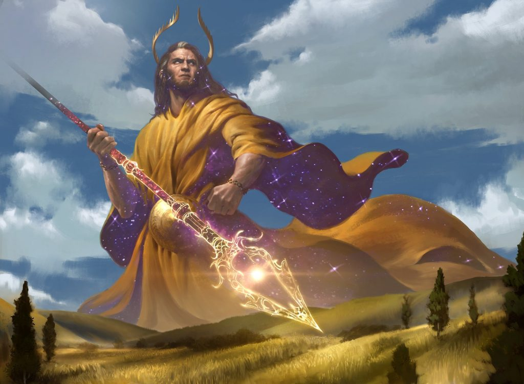 Heliod, Sun-Crowned - Illustration by Lius Lasahido