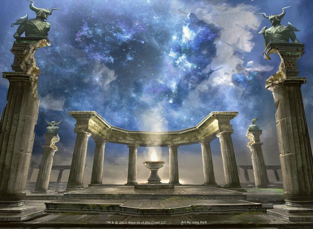 Nykthos, Shrine to Nyx - Illustration by Jung Park