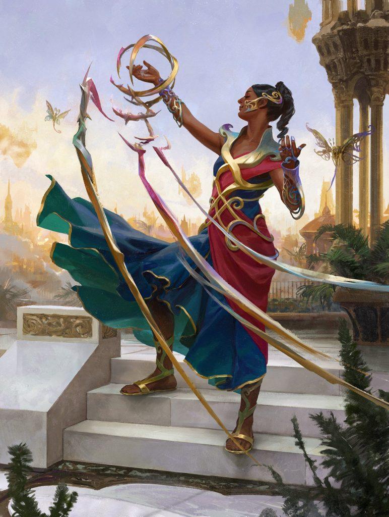 Saheeli, Sublime Artificer - Illustration by Wesley Burt