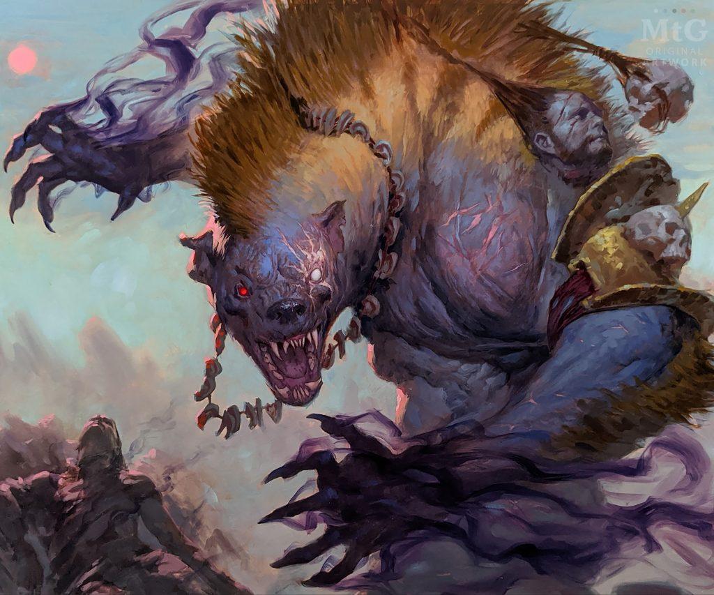 Targ Nar, Demon-Fang Gnoll - Illustration by Tyler Jacobson