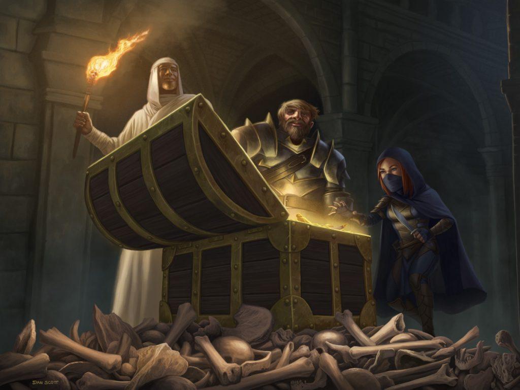 Treasure Chest - Illustration by Dan Scott