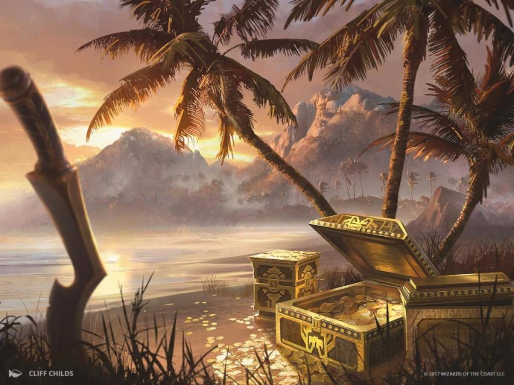 Treasure Cove - Illustration by Cliff Childs