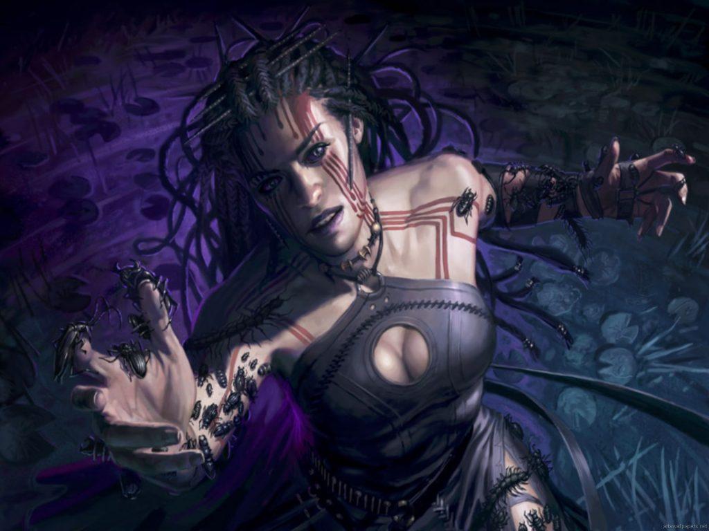 Vampire Hexmage - Illustration by Eric Deschamps