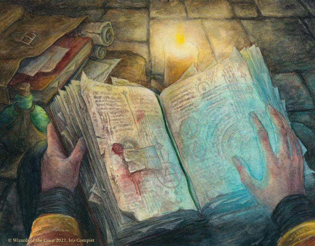 Wizard's Spellbook - Illustration by Iris Compiet