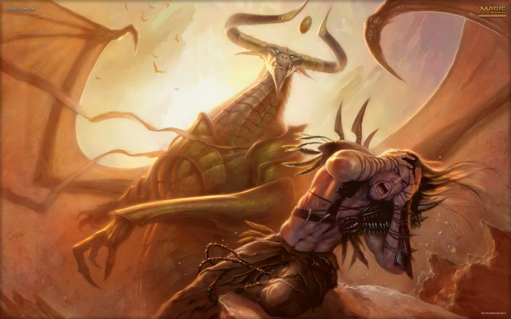 Cruel Ultimatum - Illustration by Todd Lockwood