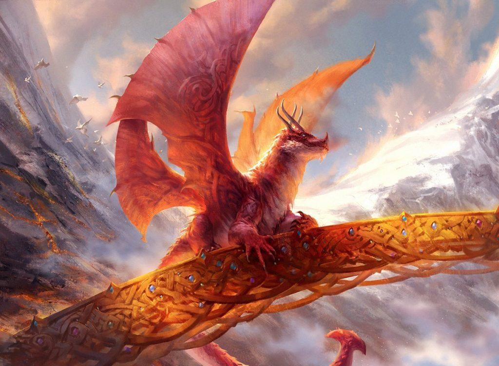 Goldspan Dragon - Illustration by Andrew Mar