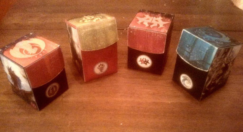 Guild-Themed DIY EDH deck boxes