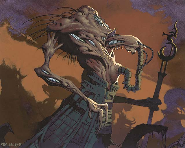 Phyrexian Plaguelord - Illustration by Kev Walker