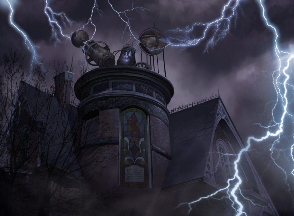 Rooftop Storm - Illustration by John Stanko