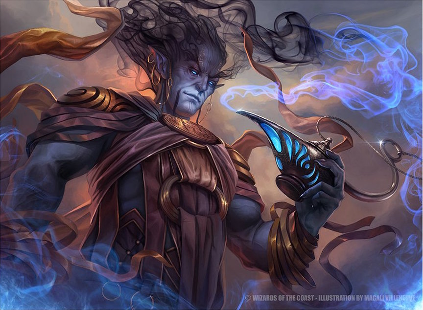 Zahid, Djinn of the Lamp - Illustration by Magali Villeneuve