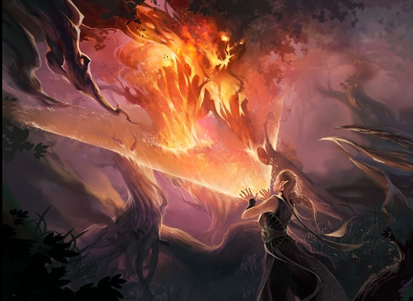 Burning Hands - Illustration by Olena Richards