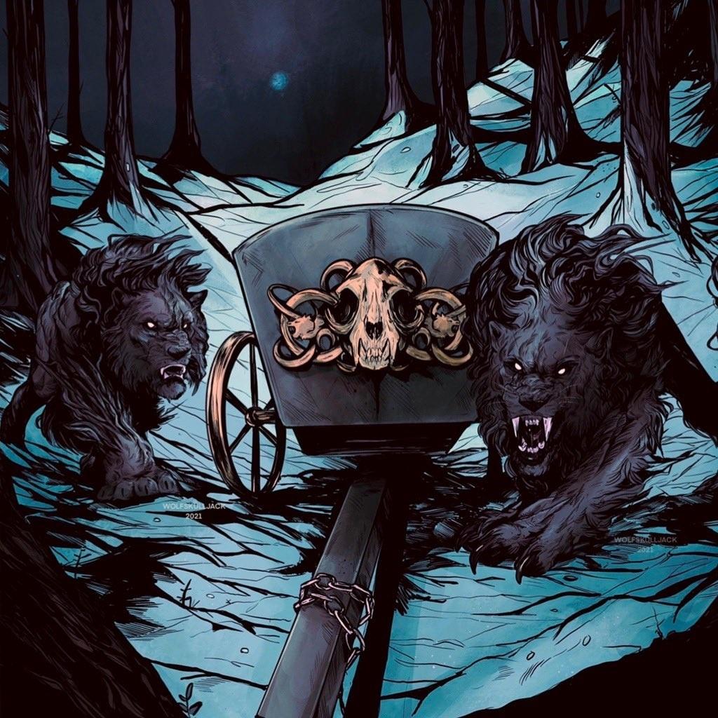 Esika's Chariot (Showcase Frame) - Illustration by WolfSkullJack