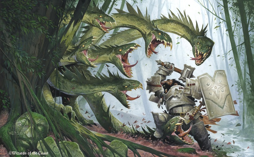 Lair of the Hydra (Showcase Frame) - Illustration by Wayne Reynolds
