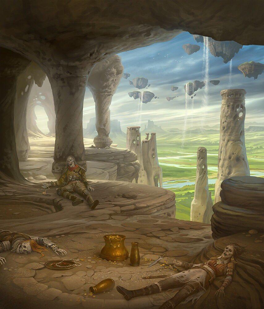 Ancient Tomb - Illustration by Howard Lyon