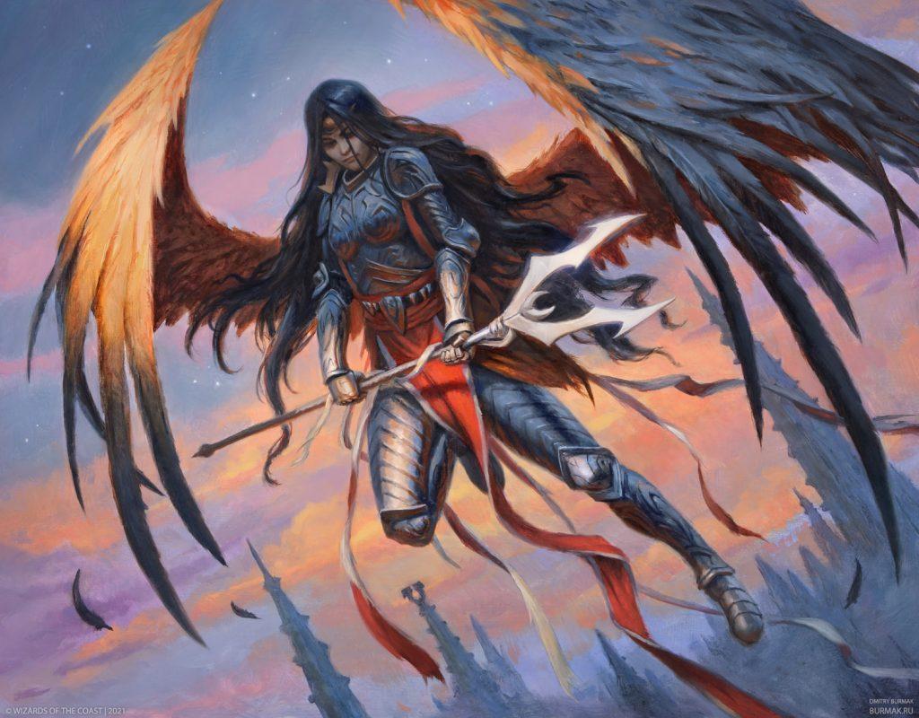 Liesa, Forgotten Archangel - Illustration by Dmitry Burmak